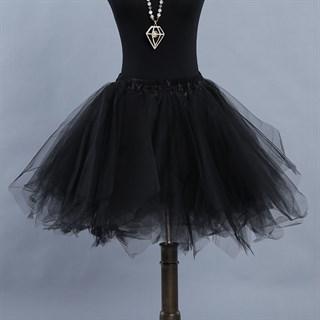 Черная пышная юбка с подкладкой