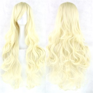 Парик теплый блонд. 80см