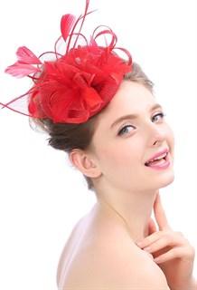 Шляпка из соломки Вивиан. Красная