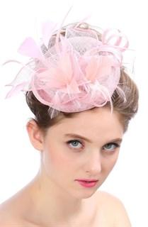 Шляпка из соломки Вивиан. Розовый
