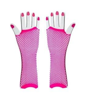 Перчатки в сетку без пальцев. Фуксия - фото 15152