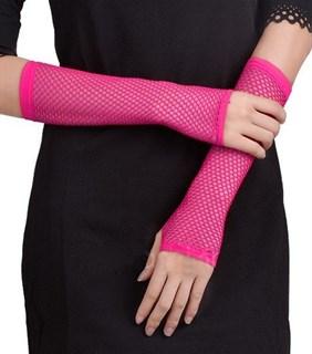 Перчатки в сетку без пальцев. Фуксия - фото 15153