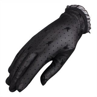 Короткие прозрачные перчатки с плейбойчиками. 6 цветов