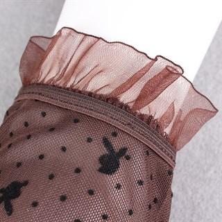 Короткие прозрачные перчатки с плейбойчиками - фото 15276