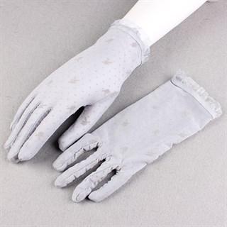 Короткие прозрачные перчатки с плейбойчиками - фото 15277