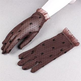 Короткие прозрачные перчатки с плейбойчиками - фото 15279