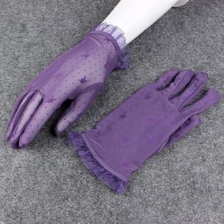 Короткие прозрачные перчатки с плейбойчиками - фото 15281