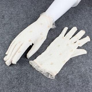 Короткие прозрачные перчатки с плейбойчиками - фото 15282