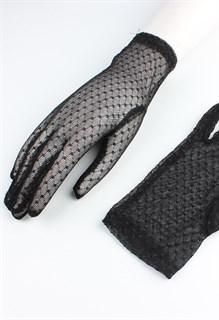 Короткие прозрачные перчатки с мушками