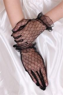 Короткие прозрачные перчатки