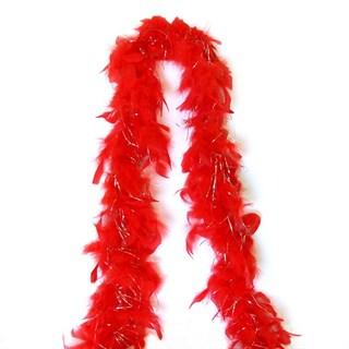Боа 2 метра из куриных перьев. Красное