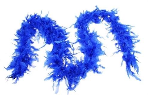 Боа 2 метра из куриных перьев. Синее