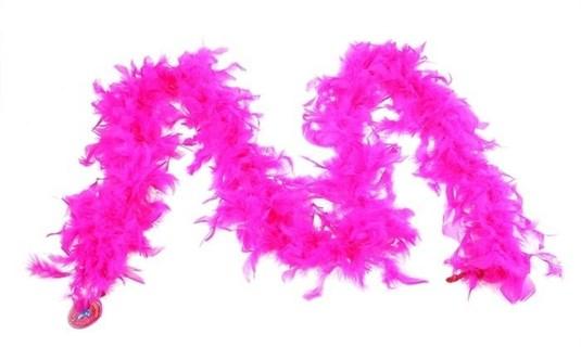 Боа 2 метра из куриных перьев. Фуксия - фото 15459