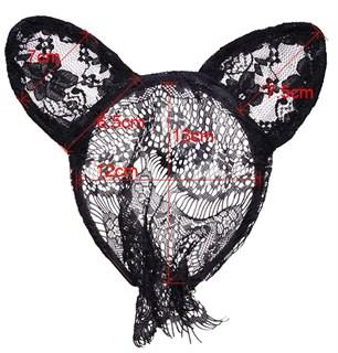 Кружевные черные ушки маленькие - фото 15527