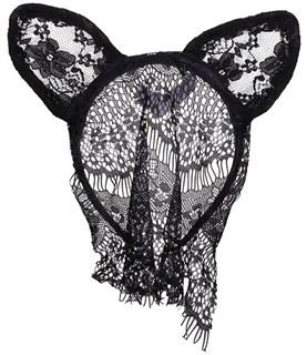 Кружевные черные ушки маленькие - фото 15530