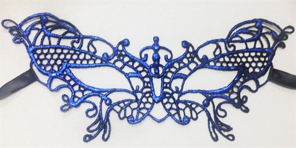 Синяя кружевная маска 3205