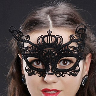Кружевная маска королевы. Серебристая - фото 15615