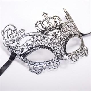 Кружевная маска королевы. Серебристая