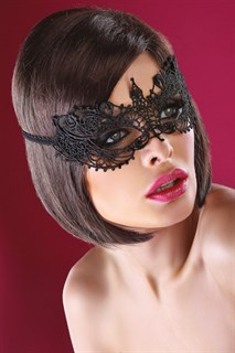 Кружевная маска бабочка. Золотая - фото 15645
