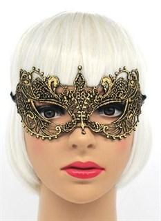 Кружевная маска бабочка. Золотая - фото 15647