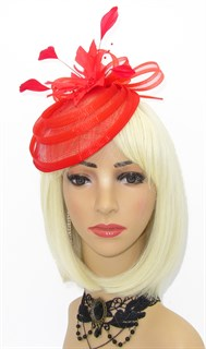 Элегантная шляпка таблетка Ива. Красная - фото 16102