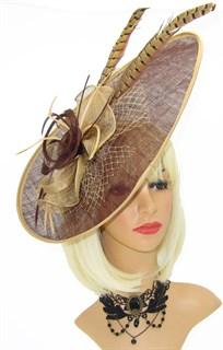 Шляпка для скачек Стефания. Шоколад