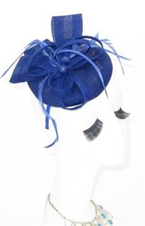 Шляпка таблетка Ариана. Синяя
