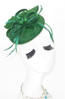 Шляпка таблетка Ариана. Зеленый