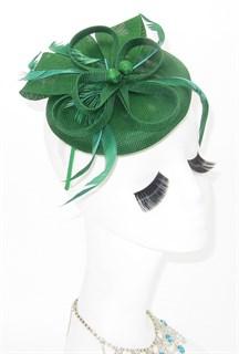 Шляпка таблетка Ариана. Зеленый - фото 16189