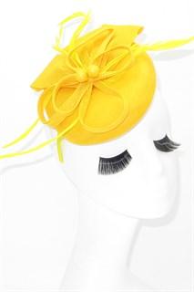 Шляпка таблетка Ариана. Желтый