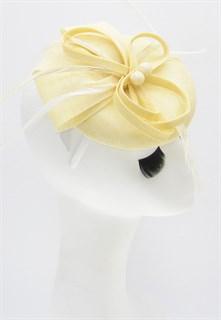 Шляпка таблетка Ариана. Светло-бежевый - фото 16201