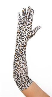 Длинные перчатки мелкий леопард. 3417