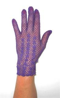 Короткие перчатки сетка ручная работа. 3418 - фото 16544