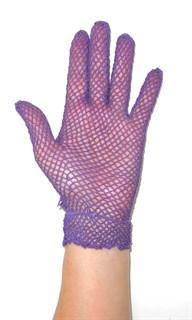 Короткие перчатки сетка ручная работа. 3418 - фото 16545