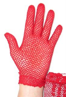 Короткие перчатки сетка ручная работа. 3418 - фото 16547