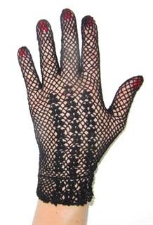 Короткие перчатки сетка ручная работа. 3418