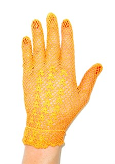 Короткие перчатки сетка ручная работа. 3418 - фото 16549