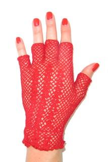 Короткие перчатки без пальцев сетка ручная работа. 3419 - фото 16559