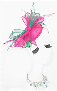 Шляпка таблетка с бантом Пинки