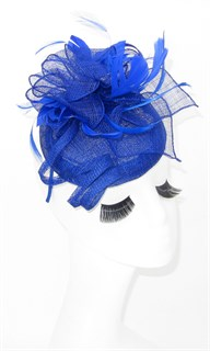 Шляпка из соломки Вивиан. Ярко-синяя