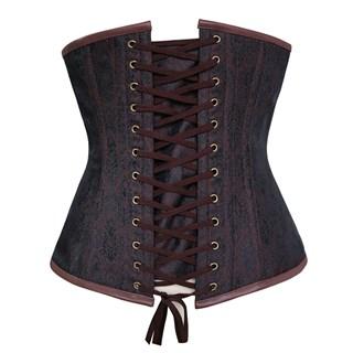 Steampunk Коричневый корсет под грудь - фото 16767