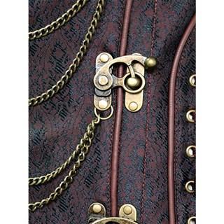 Steampunk Коричневый корсет под грудь - фото 16768