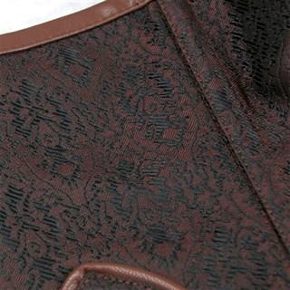 Steampunk Коричневый корсет под грудь - фото 16769