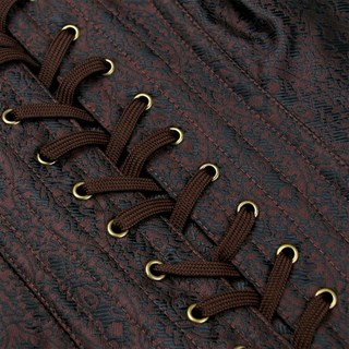Steampunk Коричневый корсет под грудь - фото 16770