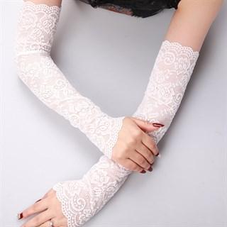 Кружевные длинные рукава. Белые