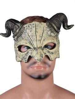 Полумаска дьявола 3D желтая