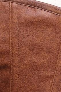 Светло-коричневый корсет потёртая кожа - фото 16979