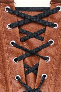 Светло-коричневый корсет потёртая кожа - фото 16981