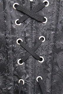Корсет под грудь с плетеным кожаным декором - фото 17060