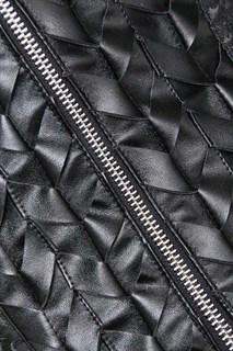 Корсет под грудь с плетеным кожаным декором - фото 17062
